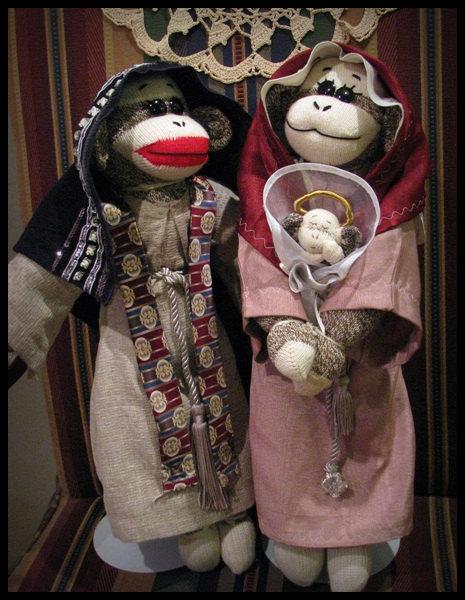 Sock Monkey Nativity - Etsy 6
