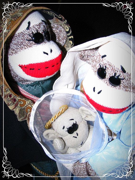 Sock Monkey Nativity - Etsy 7