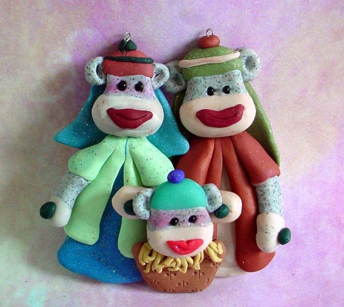 Sock Monkey Nativity - Etsy