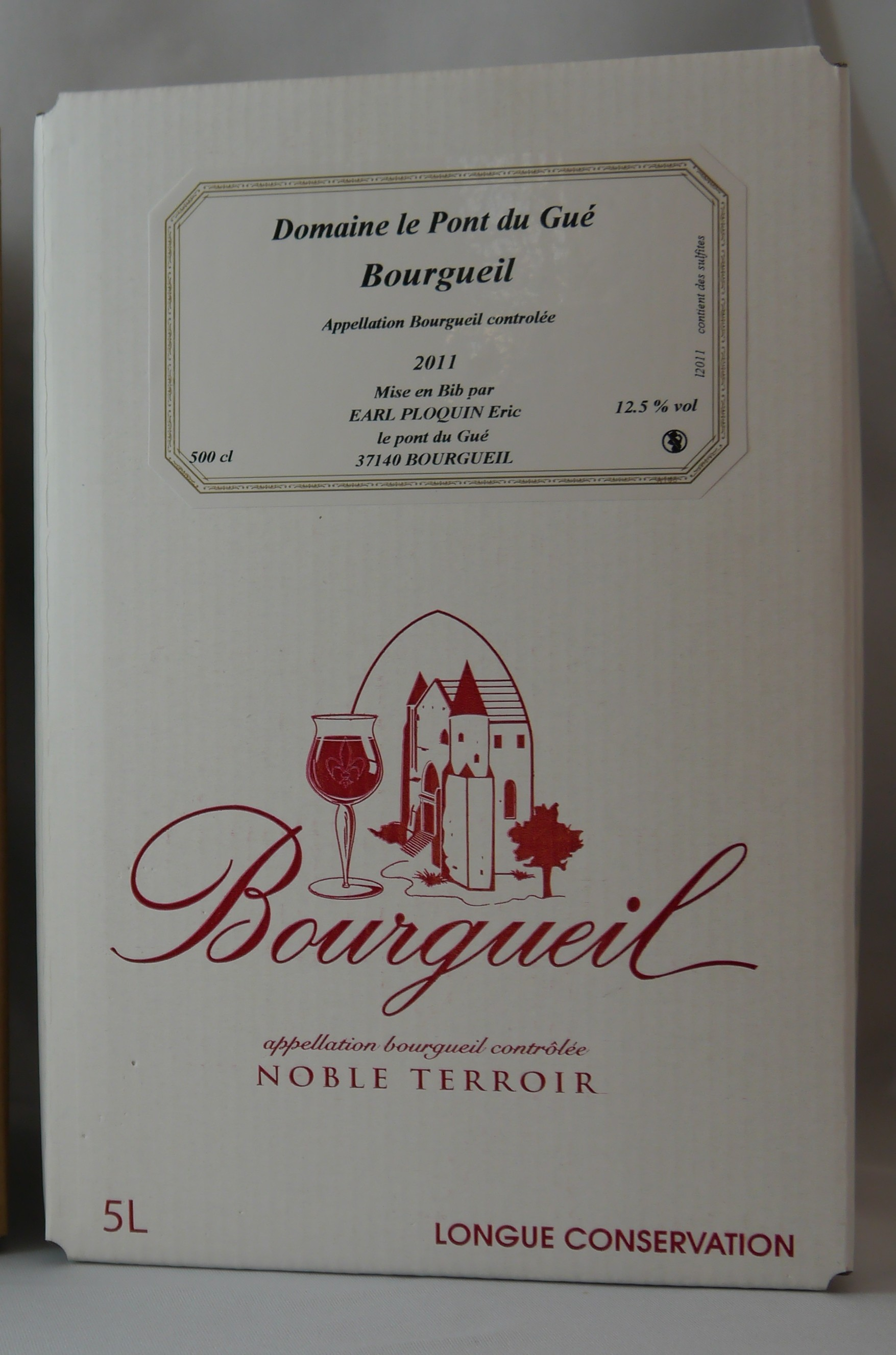 BAG IN BOX rouge - Vin BOURGUEIL - Eric PLOQUIN