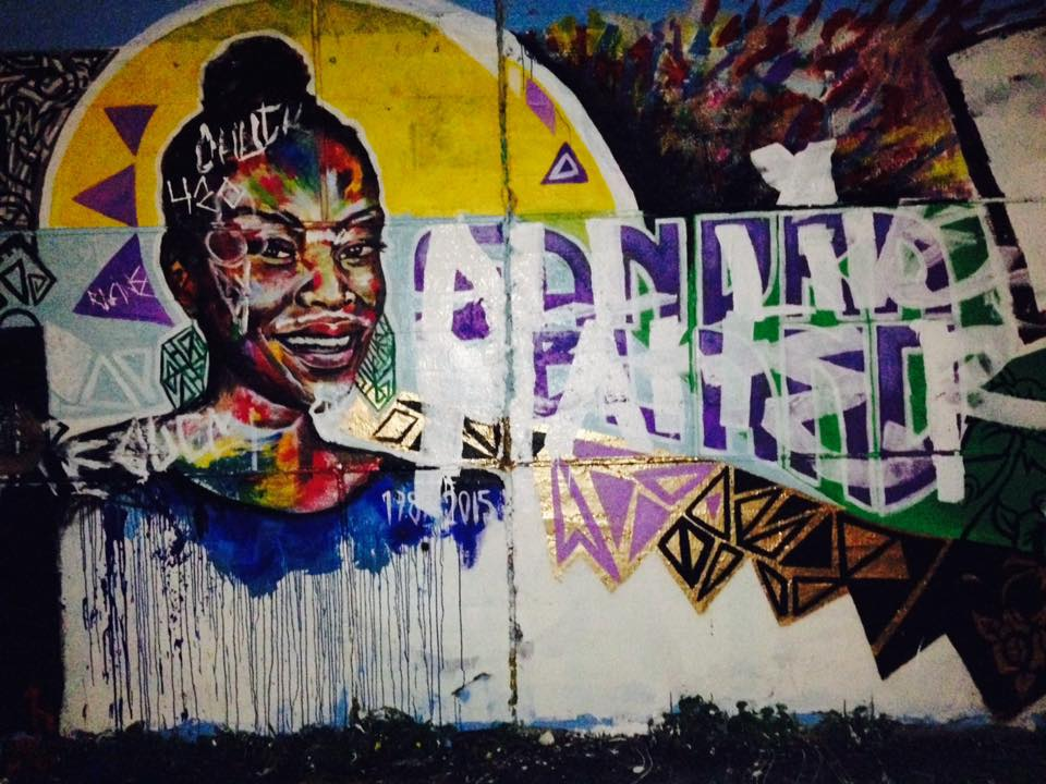 Defaced mural, via RJ D. Jones.