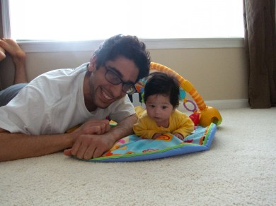 Scarlett and I do Tummy Time