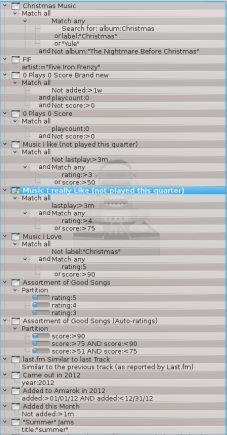 Amarok Dynamic Playlists 1