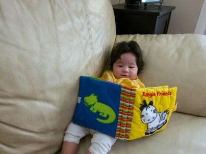 Scarlett Reads Jungle Friends