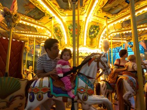Scarlett at the Mall Carousel