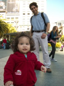 Scarlett and I at Union Square