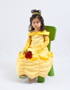 Belle in the Chair with a Rose