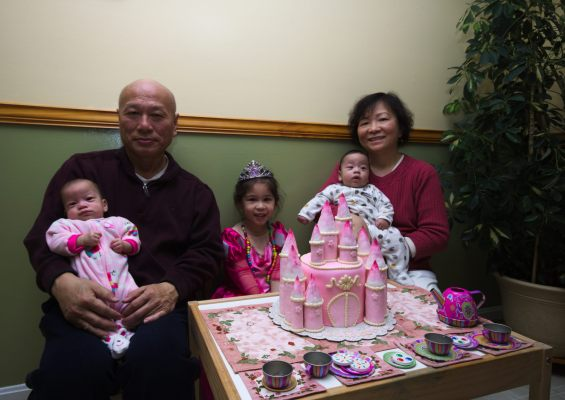 The kids and the grandparents on Scarlett's Birthday