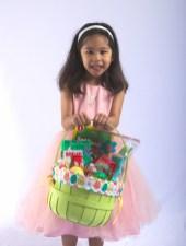 Scarlett and her Easter Basket