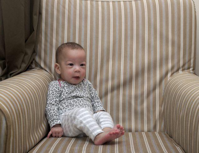 Stella's Five Month Couch Portrait