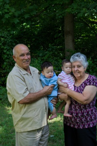 The Twins and their Great-Grandparents