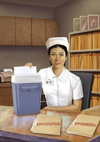 424px-Nurse_using_paper_shredder_on_confidential_records