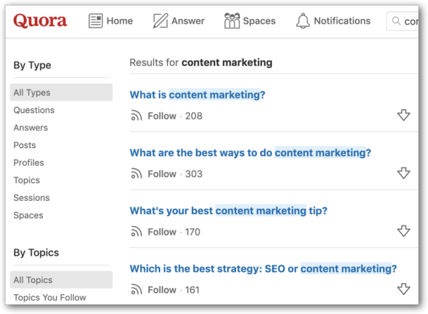 B2B Content Marketing Research on Quora is a Great Online Tool