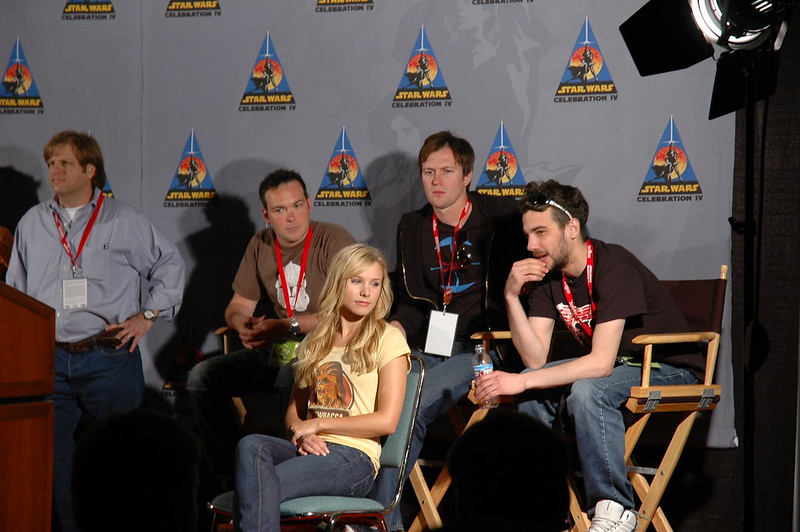 Press conference with Kristen Bell at Star Wars Celebration IV (C4). I spearheaded media relations for Lucasfilm at the event, credentialing hundreds of journalists and servicing thousands of print, radio and TV news placements.