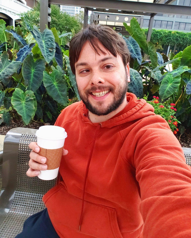 Eric Shay Howard Selfie In Garden Louisville Belvedere
