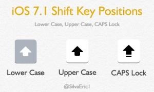iOS 7.1 Shift Key