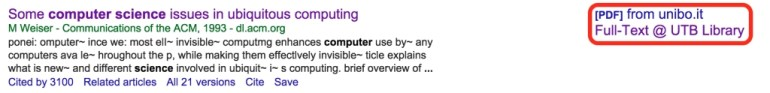 Google Scholar Article highlighting the Full-Text link.