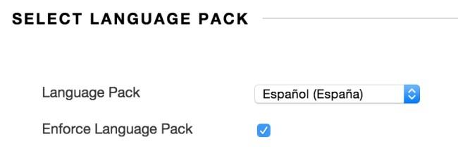 Select Language Pack