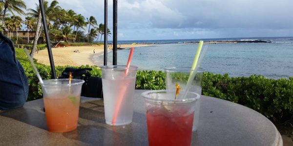 Drinks at Marriott Waiohai Beach Club