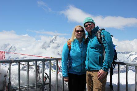At Glacier Paradise viewing platform