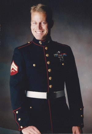 Eric Torberson in Marine Corps Dress Blues