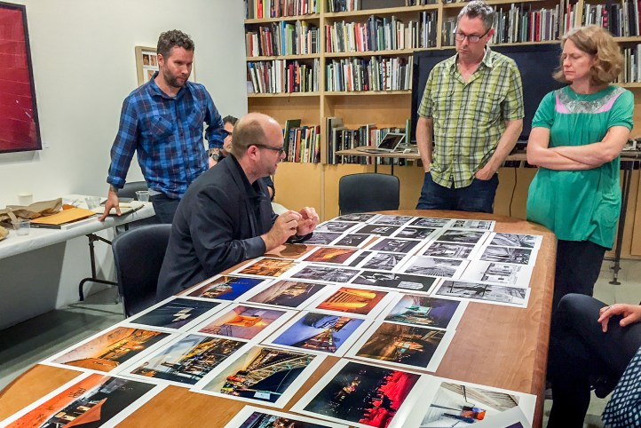Presenting my work to fine art photographer Todd Hido at the Aperture Workshop.