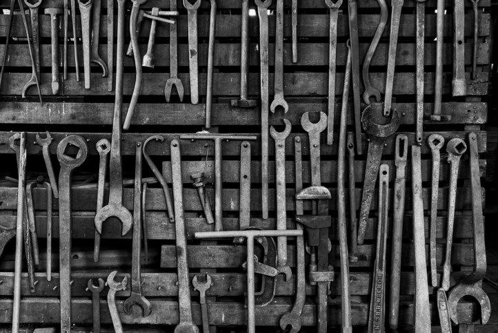Tools of the trade await skilled hands in the EBT machine shop
