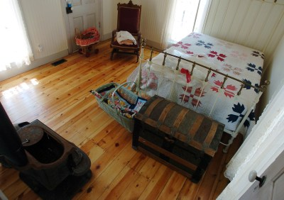 This is one of the restored bedrooms in the Wise home built in 1872.