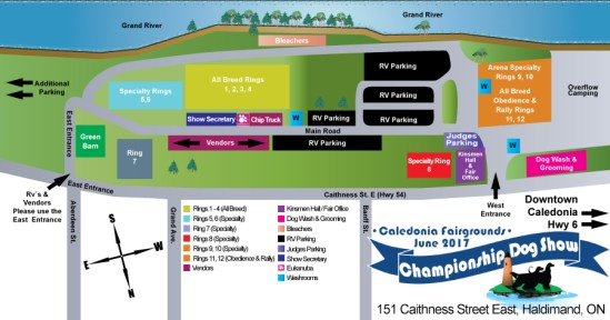 ESKC Showgrounds Map