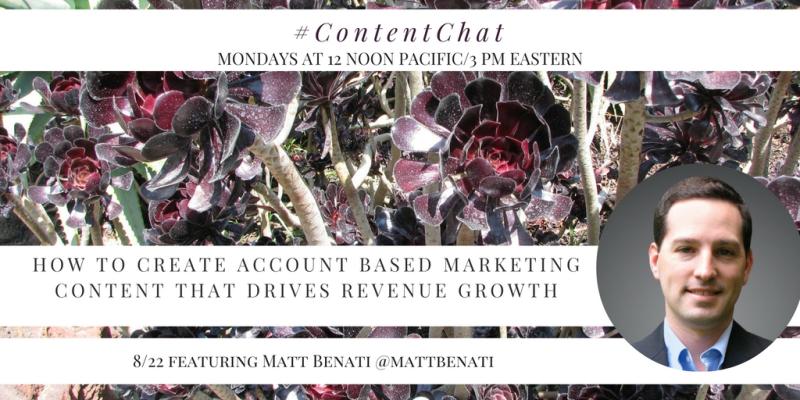 Matt Benati Content Chat