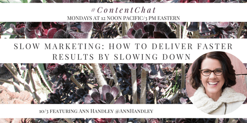 Ann Handley Content Chat