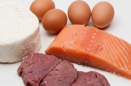 Salmon is a great source of good fats - and everything in the image high in protein