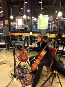 erika may w/flute, guitar, & cello @ Whole Foods