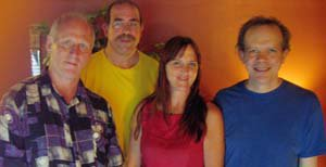 In Billy Engel's recording studio with Dave Black, Willem von Hombracht and Paul DiMarinis