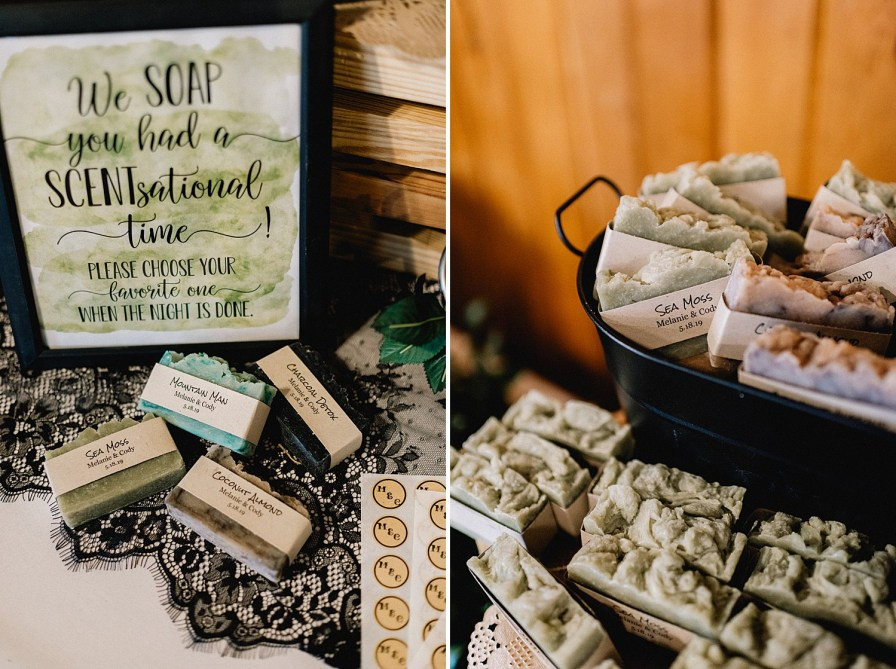 wedding guests favors at this wedding were handmade bars of soap