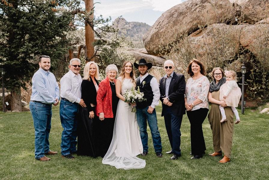 family portraits for Black Canyon Inn wedding