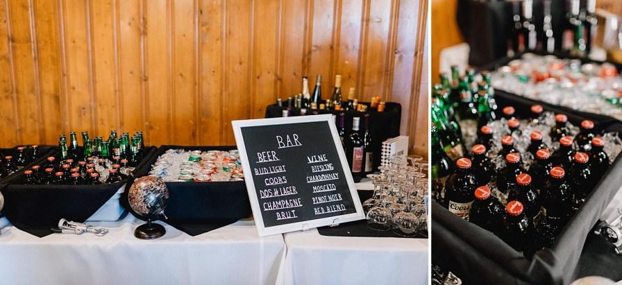 self serve bar ideas for wedding