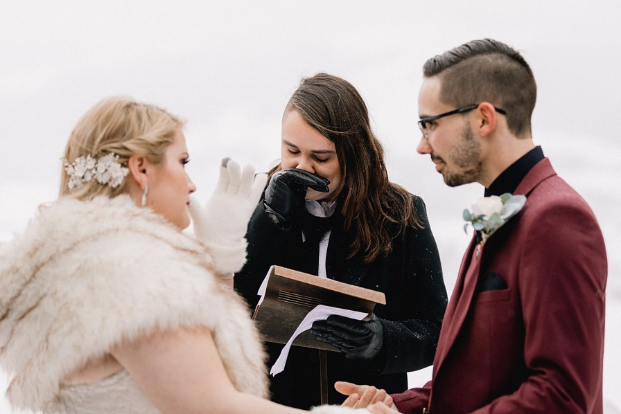 Officiant gets emotional at Sapphire Point elopement