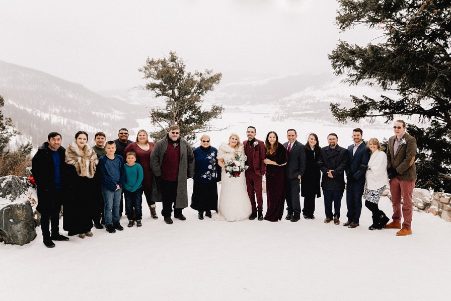 Family photos at Sapphire Point elopement