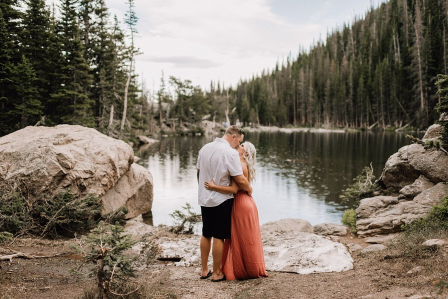 rmnp engagement photos by Dream Lake