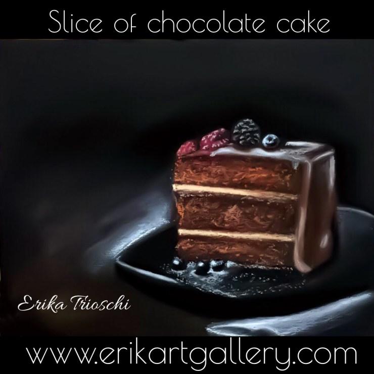 www.erikartgallery.com - Slice of chocolate cake