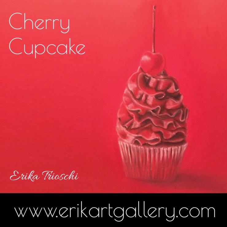 www.erikartgallery.com - Cherry Cupcake