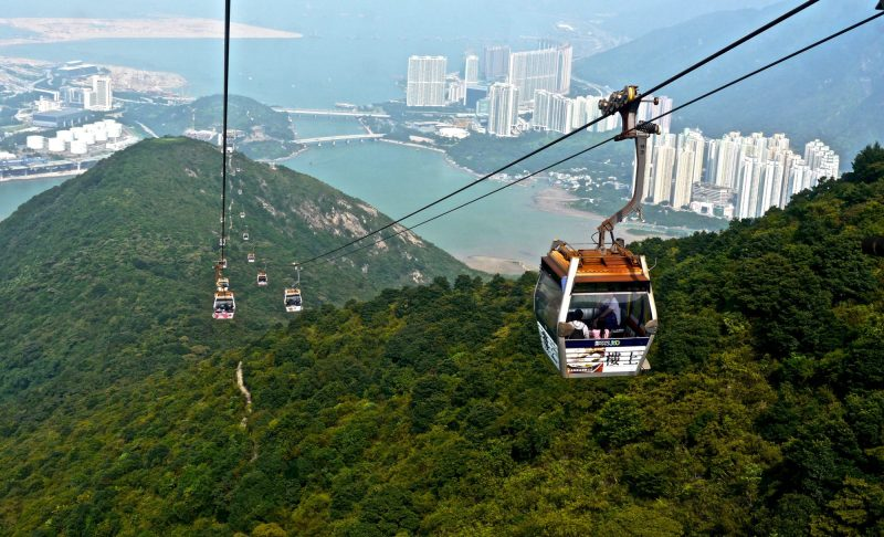 Skytram to Ngong Ping Village