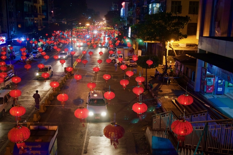 Streets lit up for Chinese New Year