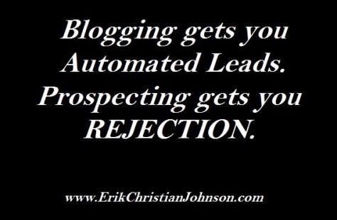 Why Blogging beats prospecting
