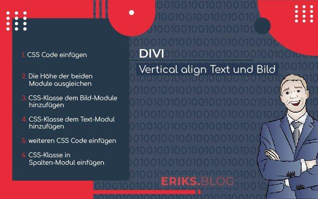 Divi vertical align Text und Bild