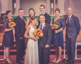 Wedding bridal party portrait