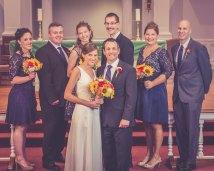 Wedding bridal party portrait