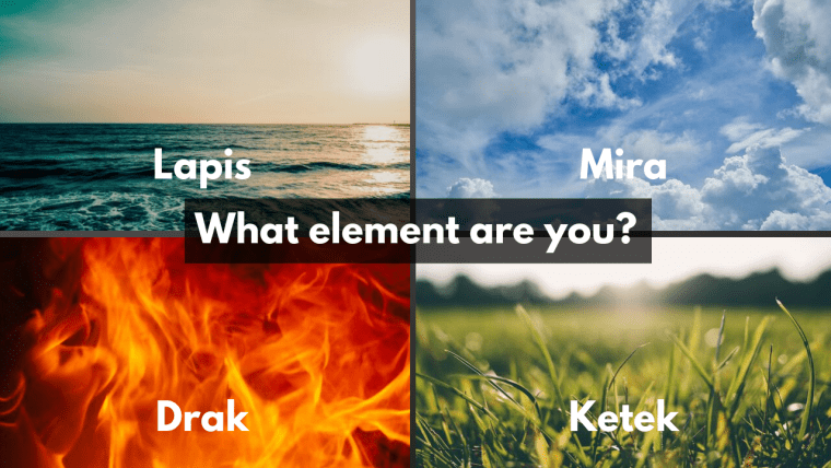 Elements test, Air Test, Earth Test, Fire Test, Water Test