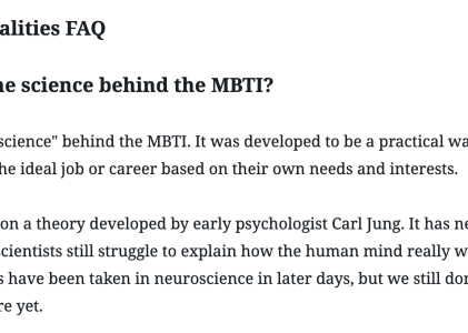16 Personalities FAQ – What is the science behind the MBTI?